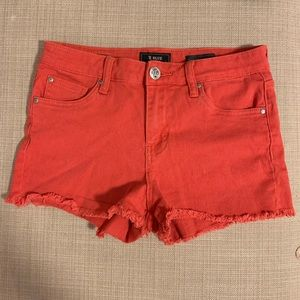 Red/orange sts blue jean shorts